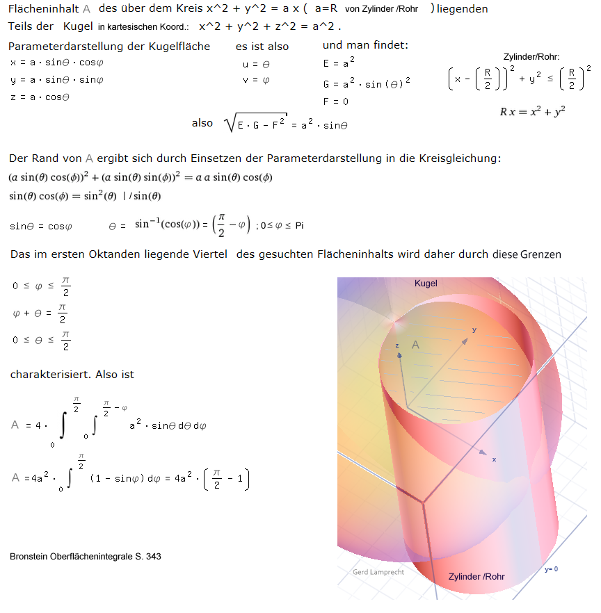 volumenberechnung beliebiger körper mit integralen (gerd lamprecht)